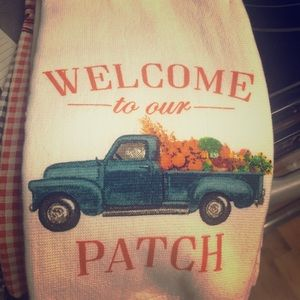 unknown Dining - Welcome to Our Patch Dish Towel
